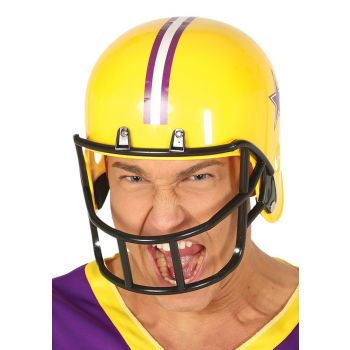Gele American Football Helm
