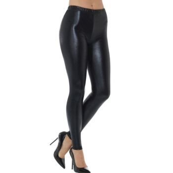 Metallic Zwarte Legging