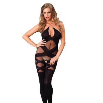 Illusion Halter Bodystocking