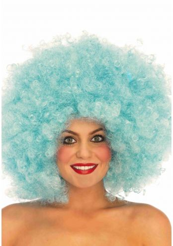 Grote Afro Pruik-blue