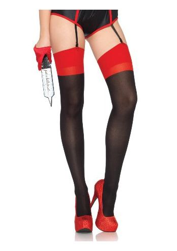 Opaque 2 Tone Stockings
