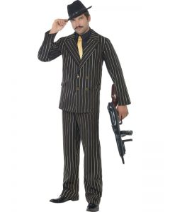 Gold Prinstripe Gangster Costume