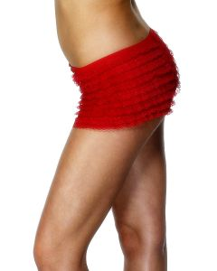 Ruffled Hotpants Rood-Red